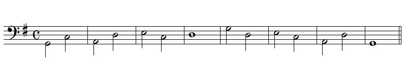 和声課題(引用)